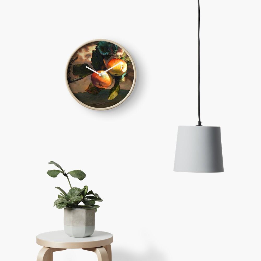Still Life With Landscape Clock