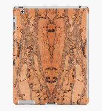 Brown natural cork material texture iPad Case/Skin