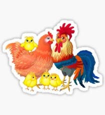 Family rooster Sticker