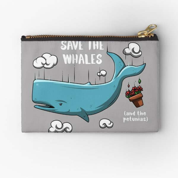 Save the whales Zipper Pouch