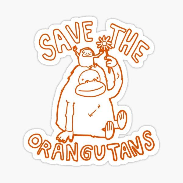 Save The Orangutan Homage Sticker