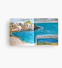 Rocks and Ocean Canvas Print