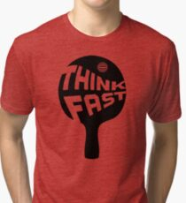Ping Pong Think Fast Tri-blend T-Shirt