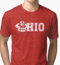 ohio state michigan Coach Rivalry Tri-blend T-Shirt