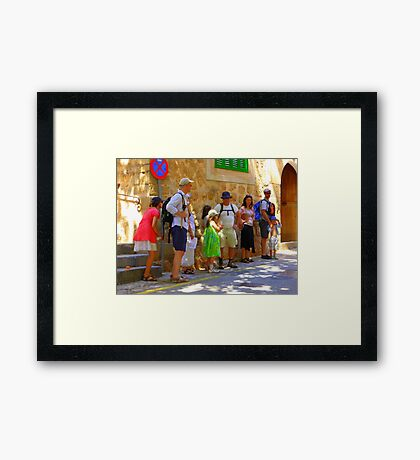 Walking In Biniaraix...................................Majorca Framed Print