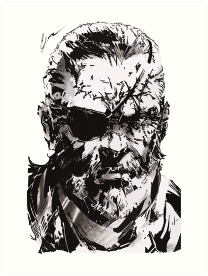 big boss metal gear solid art prints by leamartes redbubble