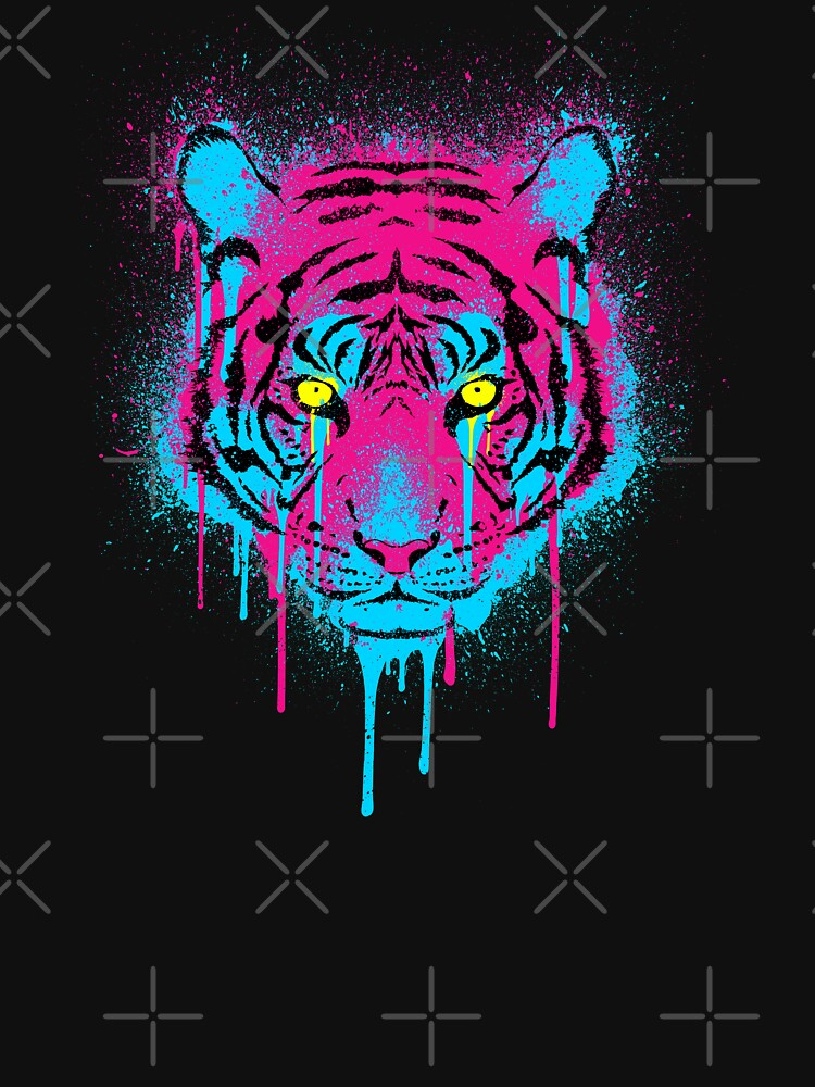 CMYK Tiger Graffiti | Women's T-Shirt