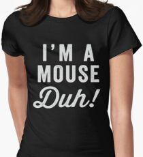 I'm A Mouse, Duh! White Ink - Mean Girls Quote Shirt, Mean Girls Costume, Costume Shirt, Lazy Costume, Halloween T-Shirt