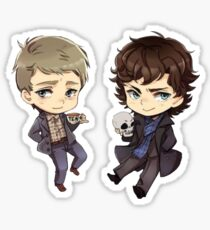 Chibi Sherlock and John Sticker