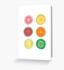 Sliced Fruit Greeting Card