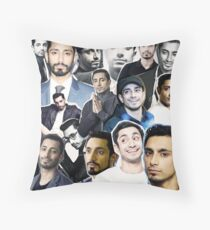 riz ahmed collage Throw Pillow