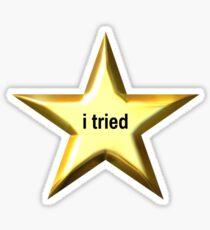 I Tried Star Sticker
