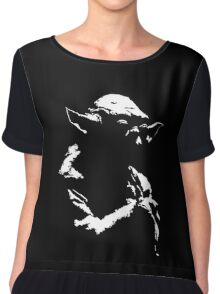Star Wars Yoda Minimal  Chiffon Top