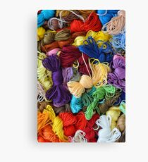 Colorful cotton craft threads Canvas Print