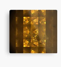 Copper Cubes Metal Print