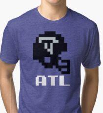 Tecmo Bowl, Tecmo Bowl Shirt, Tecmo Bowl T-shirt, Tecmo Bowl Helmet, ATL Helmet, ATL Tri-blend T-Shirt