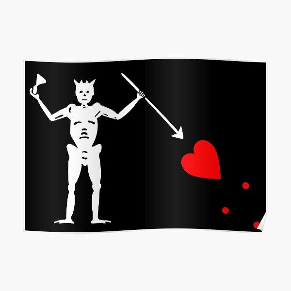 Pirate Flag Blackbeard Edward Teach Poster
