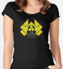 Nakatomi Plaza - HD Japanese Yellow Variant Women's Fitted Scoop T-Shirt