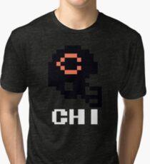 Tecmo Bowl, Tecmo Bowl Shirt, Tecmo Bowl T-shirt, Tecmo Bowl Helmet, CHI Helmet, CHI Tri-blend T-Shirt