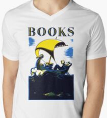 Books Allegory Men's V-Neck T-Shirt