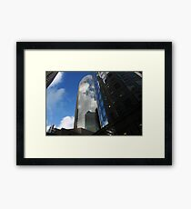Cloud Reflections in the Windows Framed Print