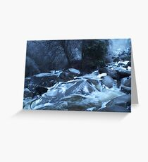 Waterfall of Blue Greeting Card
