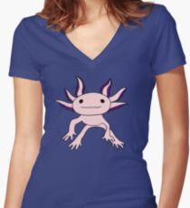Axolotl Women's Fitted V-Neck T-Shirt