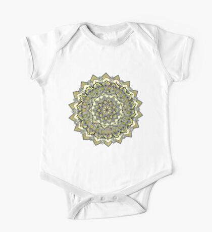 Sweet yellow mandala Kids Clothes