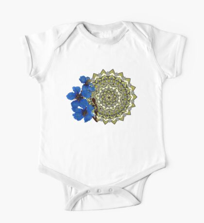 Royal blue magnolia mandala Kids Clothes