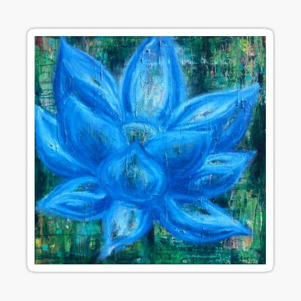 Blue Lotus Magic - an activated Inner Power Painting Sticker