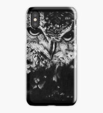 Owl drawing photorealistic iPhone Case/Skin
