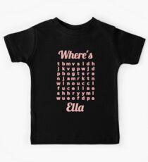 Baby Ella learns word puzzle Kids Tee