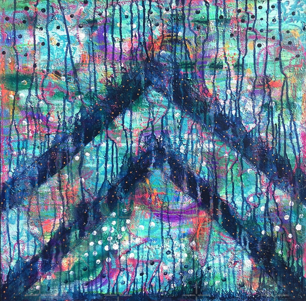 Sacred Heart Key - an activated Inner Power Painting by mellierosetest