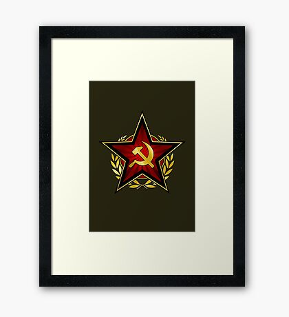 Russian Red Star Framed Print