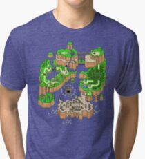 DINOSAURIER LAND MAP Vintage T-Shirt