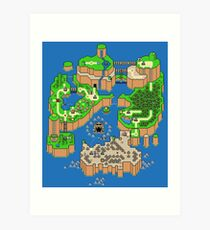 DINOSAURIER LAND MAP Kunstdruck
