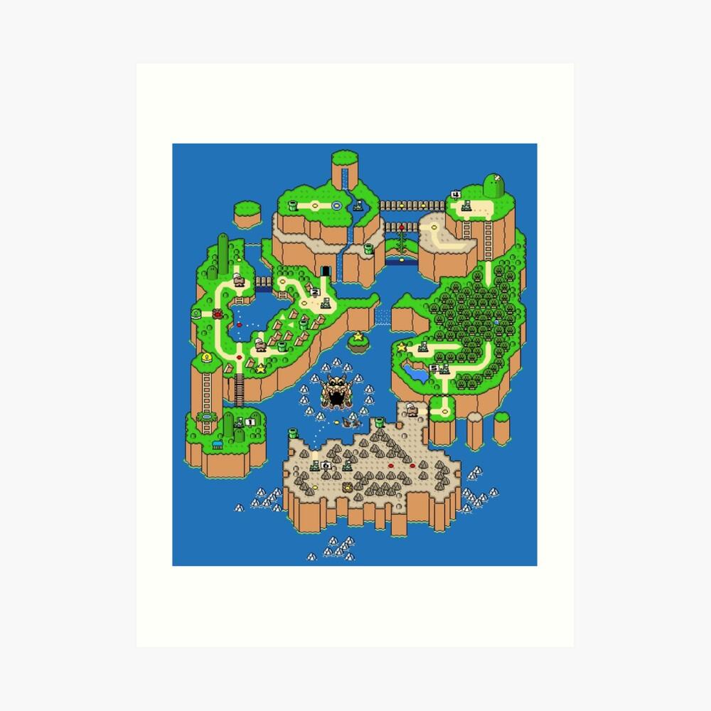 DINOSAUR'S LAND MAP Lámina artística
