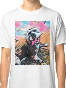 Comic Layla - American Staffordshire Terrier, Pit Bull, Rescue Classic T-Shirt