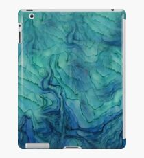 Blue Water Color Abstract iPad Case/Skin