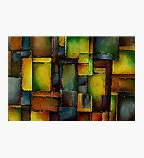 Colorful Abstract Blocks Photographic Print