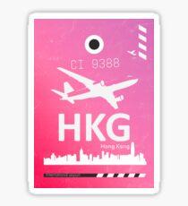HKG Hong Kong airport code Sticker