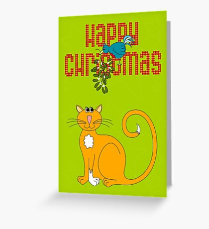 Happy Christmas in Red Greeting Card
