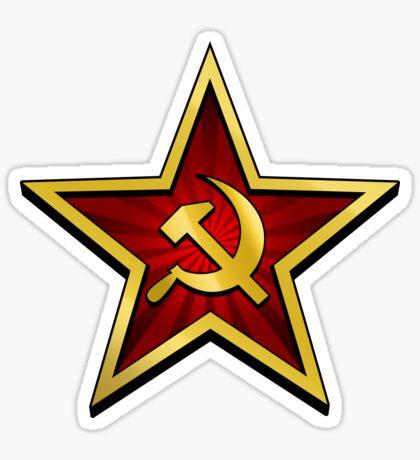 Soviet Gold Star Sticker