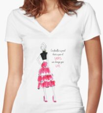 Cinderella shoes Women's Fitted V-Neck T-Shirt