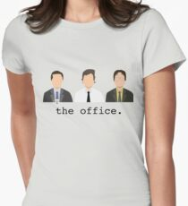 Jim, Dwight, Michael- The Office Womens Fitted T-Shirt