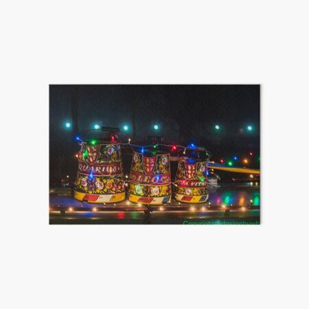 Canal Art Buckets ala fairy lights  Art Board Print