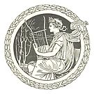 Lyre Player - Music Instrument Illustration by Hannah Sterry