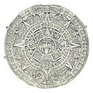 Aztec Calendar Stone - Ancient History Illustration by Hannah Sterry