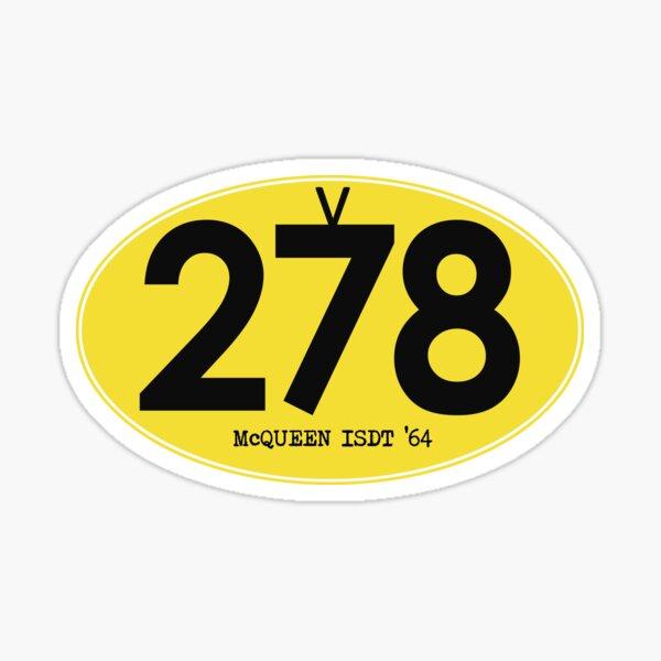278 McQueen ISDT 1964 Sticker