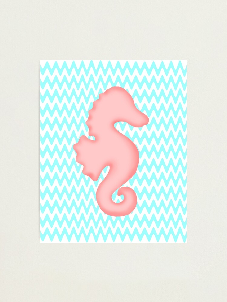 Alternate view of Pink Teal Seahorse Photographic Print